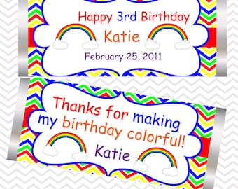 Rainbow Party - Personalized Candy Bar Wrapper
