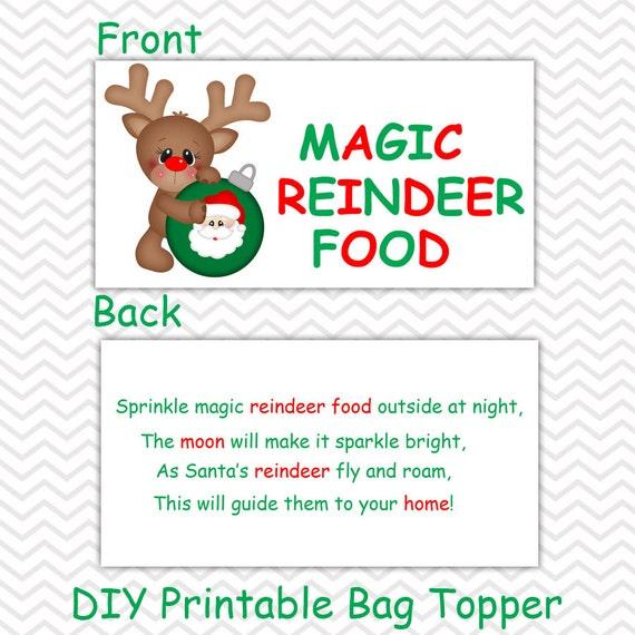 Christmas Magic Reindeer Food Personalized Diy Christmas Etsy