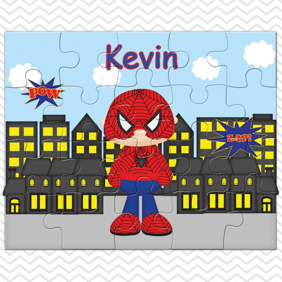 Spiderman personalized puzzle personalized spiderman puzzle personalized kids puzzle