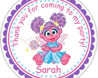 Abby Cadabby Sesame Street- Personalized Stickers, Party Favor Tags, Thank You Tags, Gift Tags, Address labels, Birthday, Baby Shower