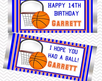 Basketball - Personalized Candy Bar Wrapper, birthday, baby shower