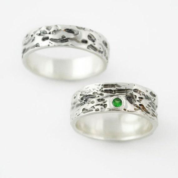 miglior sito web 70ff2 d6aa3 Coppia anelli, anelli di nozze d'argento, anelli di nozze moderni, uomini o  donne, banda di nozze, anelli di fidanzamento Custom