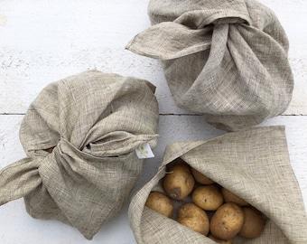 Knitting Bag Produce Bag Blue /& White Fabric Bento Bag Zero Waste Delft Floral Pattern,Toiletries Bag Travel Bag Reusable Gift Bag