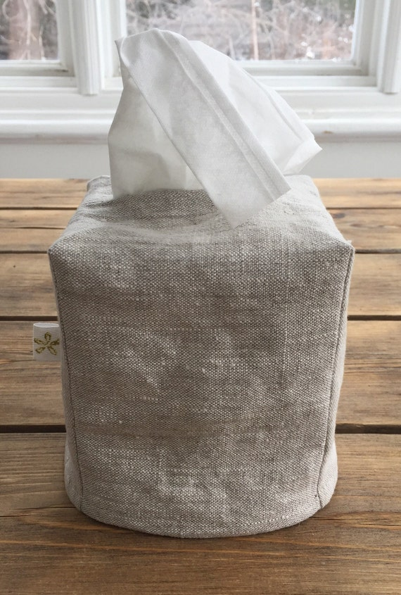 Linen slipcover for tissue box