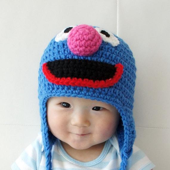 Bert Monstermütze Bert häkeln Babymütze Tier-Hut   Etsy
