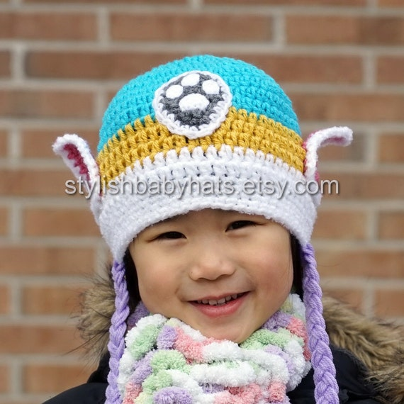 Everest Hat Paw Patrol Hat Babymutsje Haken Husky Hond Etsy