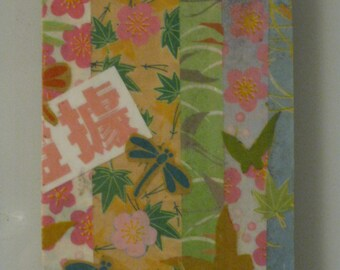 Origami Paper Decoupage Wooden Rectangle Magnet