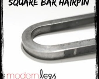 Square Bar Hairpin Legs - Raw Steel