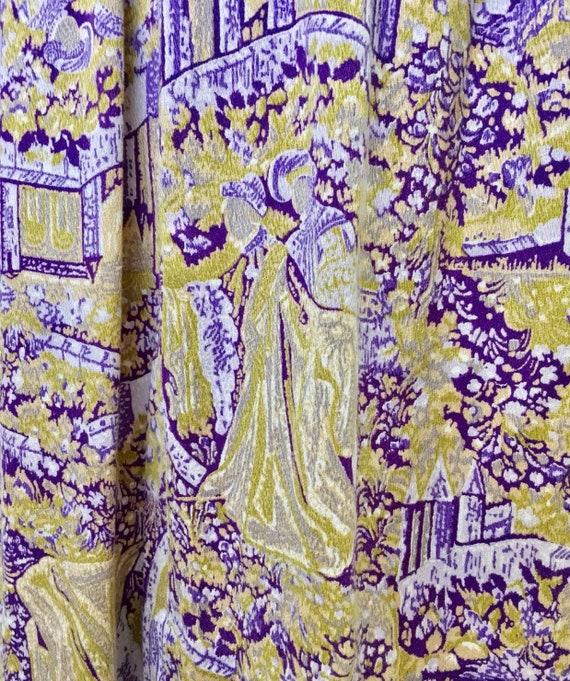 Vintage true 70s handmade dress French toile de j… - image 5