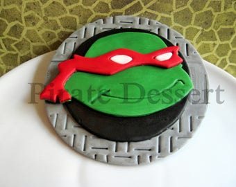Fantastic Tmnt Cake Topper Etsy Birthday Cards Printable Riciscafe Filternl