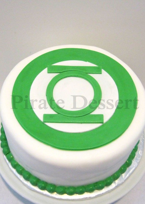 Edible Cake Topper Green Lantern Justice League Edible Etsy
