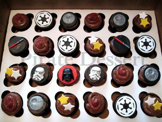 Edible Star Wars Cake Topper Rebel Alliance Galactic Empire Logo Deluxe Star Wars Cake Topper Jedi Dark Side Fondant Topper 1 Piece