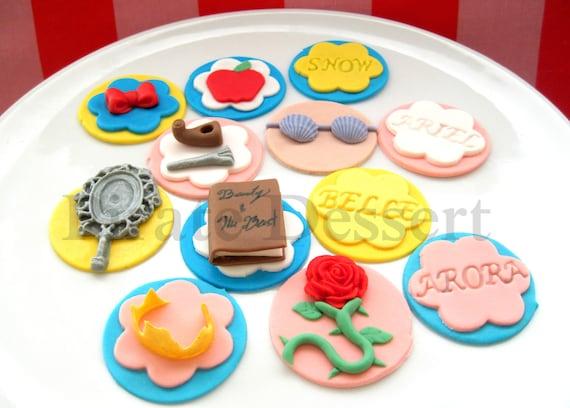 Edible DISNEY PRINCESS Cupcake Toppers Classic Princess