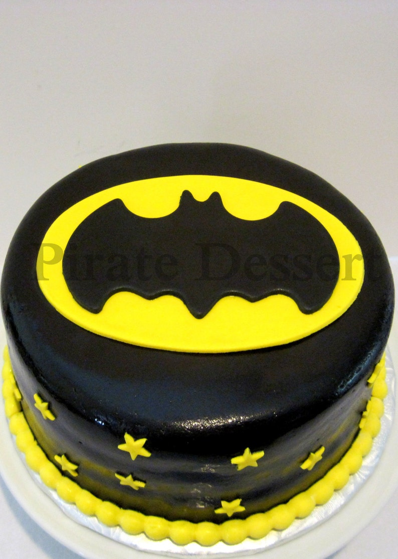 Edible Cake Topper BATMAN LOGO Dark Night Justice League