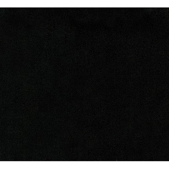 New Black Comfy Flannel Solid Fabric by the Yard and Half Yard