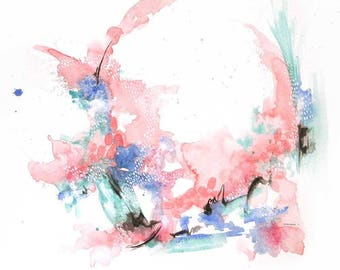 Abstract Watercolour #5 - Giclee Print