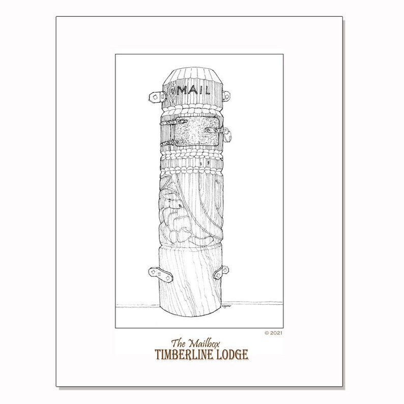 Timberline Lodge  the mailbox coloring page image 0