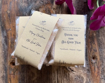 Personalised - Natural Bath Salts with Himalayan Salt & Epsom Salts (Corporate Gifts)