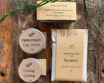 Home Spa Sample Packs for the Face, Vegan Organic Natural