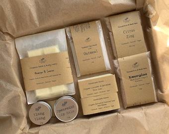 Vegan Pamper Goodies Gift Set - Sample Sizes.  Organic, Natural