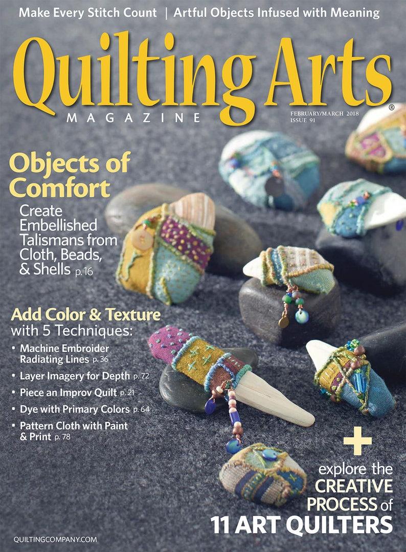 Quilting Arts Magazine Feb/Mar2018  NanetteSewZ image 0