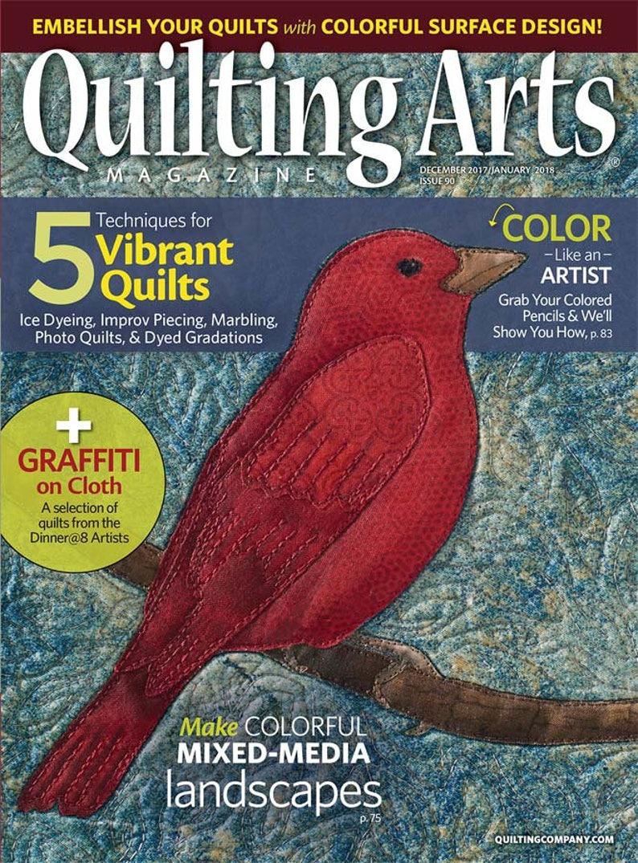 Quilting Arts Magazine Dec2017/Jan2018  NanetteSewZ image 0