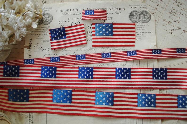 46b38dbeb8e Choose One Vintage Petite American Flag 13 Stars Red White