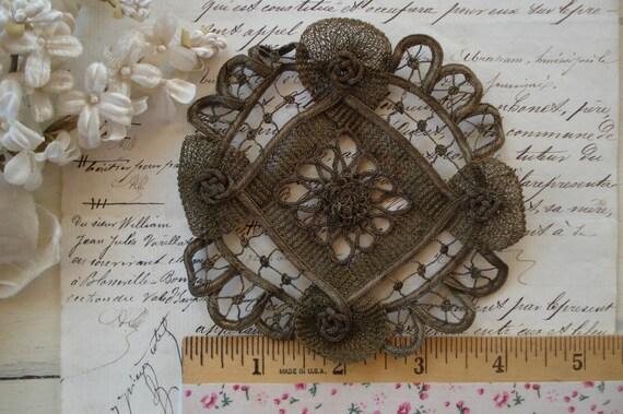 Vintage Antik Metallic Black Gold bestickt Lace Trim Hochzeit verschönern DIY
