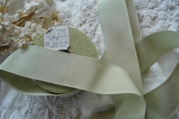 "10 yard 1//2/"" wide vintage rayon grosgrain yellow ribbon hat dress sewing trim"