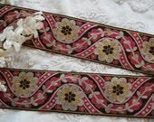 1y Vintage French 1 1 2 quot Fancy Pink Silver Gold Art Deco Floral Metallic Woven Jacquard Millinery Ribbon Trim Flapper Edwardian Dress Hat