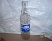 1963 Suncrest National NuGrape Atlanta GA 10 oz clear acl painted label soda bottle 8 1 2 quot tall