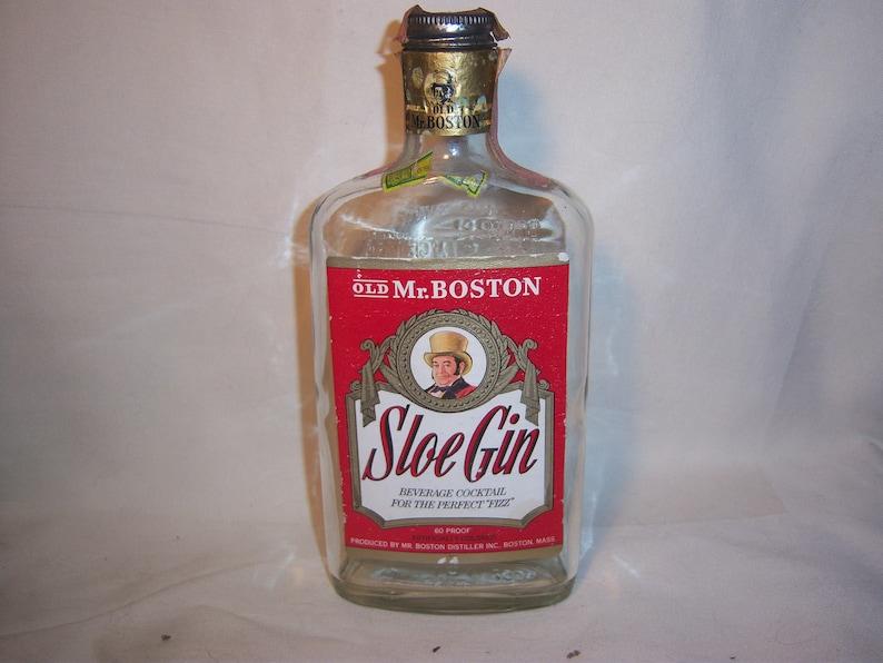 35c32ac76c33cb 1960 s Old Mr Boston Sloe Gin Massachusetts 8 inch tall