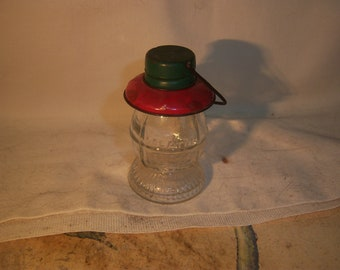 "1940's TH Stough Co Jeaneatte Pa  Lantern Figural Candy Container 3"" Tall"