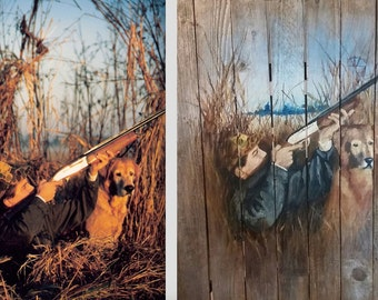 Custom Paintings on Reclaimed Wood. Found wood, personalised landscape, portrait paintings. Made to order
