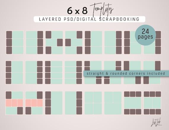 6x8 templates for digital scrapbooking etsy image 0 maxwellsz