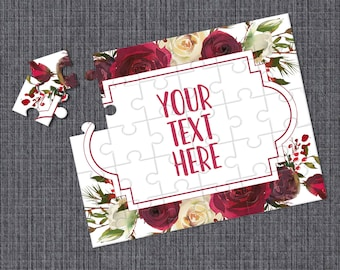 Personalized Puzzle CYOP0107 Wedding Announcement Custom Puzzle Pregnancy Announcement Announcement Ideas Create Your Own Puzzle