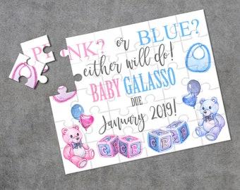 Pregnancy Announcement Announcement Ideas Create Your Own Puzzle Wedding Announcement Custom Puzzle CYOP0152 Personalized Puzzle