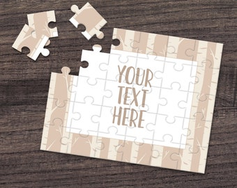 Personalized Puzzle Custom Puzzle Create Your Own Puzzle CYOP0015 Pregnancy Announcement Announcement Ideas Wedding Announcement