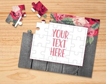Personalized Puzzle Create Your Own Puzzle Announcement Ideas Custom Puzzle Wedding Announcement CYOP0250 Pregnancy Announcement