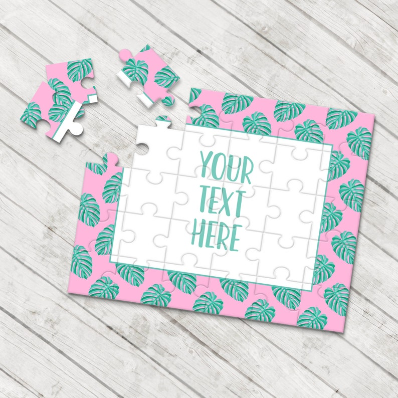 Create Your Own Puzzle Personalized Puzzle Announcement Ideas Custom Puzzle Pregnancy Announcement Wedding Announcement CYOP0013