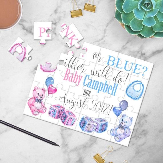 Personnalisé de la grossesse faire-part Puzzle - révéler la grossesse - bébé annonce - avoir une idées de faire-part bébé - P0219