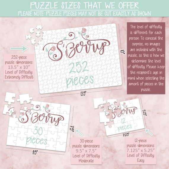 CYOP0020 Pregnancy Announcement Announcement Ideas Wedding Announcement Personalized Puzzle Custom Puzzle Create Your Own Puzzle