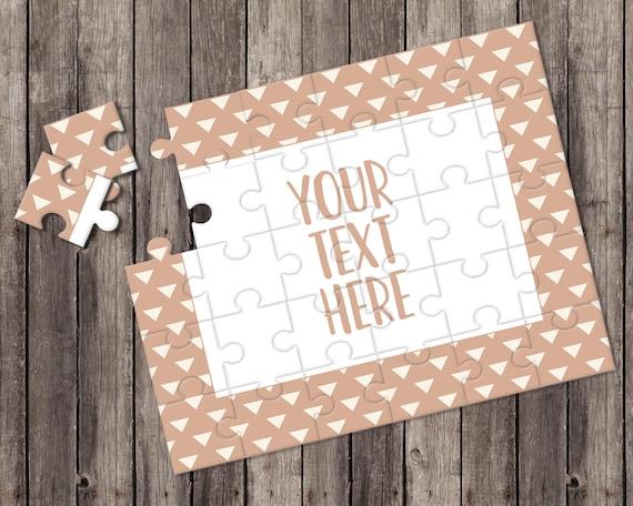Créez votre propre Puzzle - annonce de la grossesse - Puzzle personnalisé - personnalisé Puzzle - annonce idées - faire-part de mariage - CYOP0233