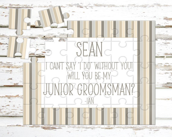 Garçon d'honneur Junior personnalisé Puzzle - proposition de garçons d'honneur - première Invitation - veux-tu être mon garçon d'honneur - faire-part de mariage - P1193