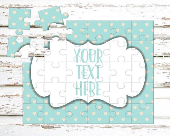 Créez votre propre Puzzle - annonce de la grossesse - Puzzle personnalisé - personnalisé Puzzle - annonce idées - faire-part de mariage - CYOP0206