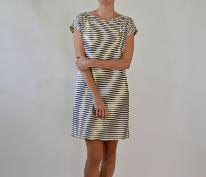 81c2dc6b95a Shift dress   tunic   striped dress   jersey dress   loose