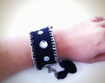 Crystal Crochet Bracelet