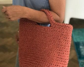 Crochet tote beach bags