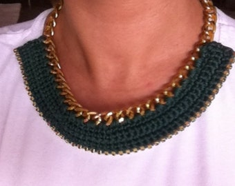 Rhinestone Crochet Necklace