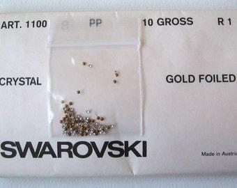100 Swarovski Clear Chatons 8PP 1.4-1.5mm Rhinestone Crystal